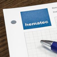 hematec Schreibblock und Kugelschreiber