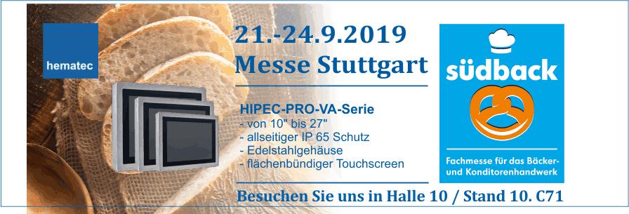 Messe Südback hematec 2019