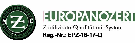 Logo Europanozert Zertifizierungsstelle