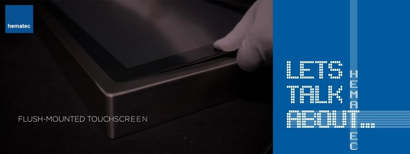 hematec Panel PC mit flächenbündigem Edelstahlgehäuse
