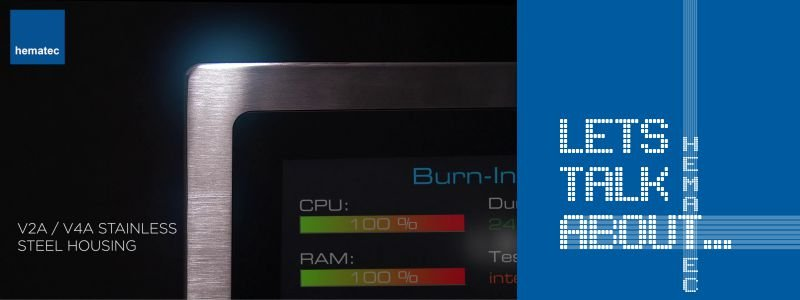 hematec - Panel PCs mit Edelstahlgehäuse